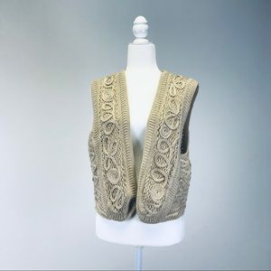 NWT Chico's Ethnic vest Natural Oat size 3